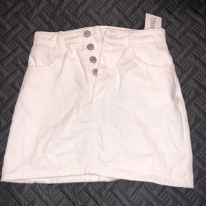 NWT Brandy Melville white denim skirt